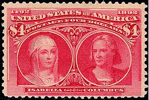 Women on US stamps - Image: Columbian 244b 4$