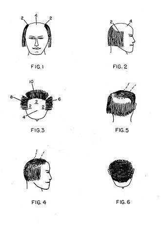 Comb over - A variant of the comb over was patented in 1977.