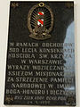 Commemorative plaque of Holy Cross church in Warsaw - 05.jpg