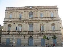 Il palazzo comunale di Comiso