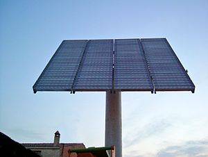 Concentrating photovoltaics in Catalonia, Spain.