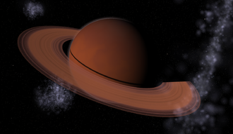 Gliese 876 - Image: Concept JKV Gliese 876 c