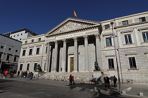 23-F - The Congress of Deputies in Madrid.