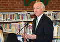 Congressman Joe Courtney speaks during Secretary Vilsack's visit to the Henry A. Wolcott Elementary School in West Hartford, Connecticut.jpg