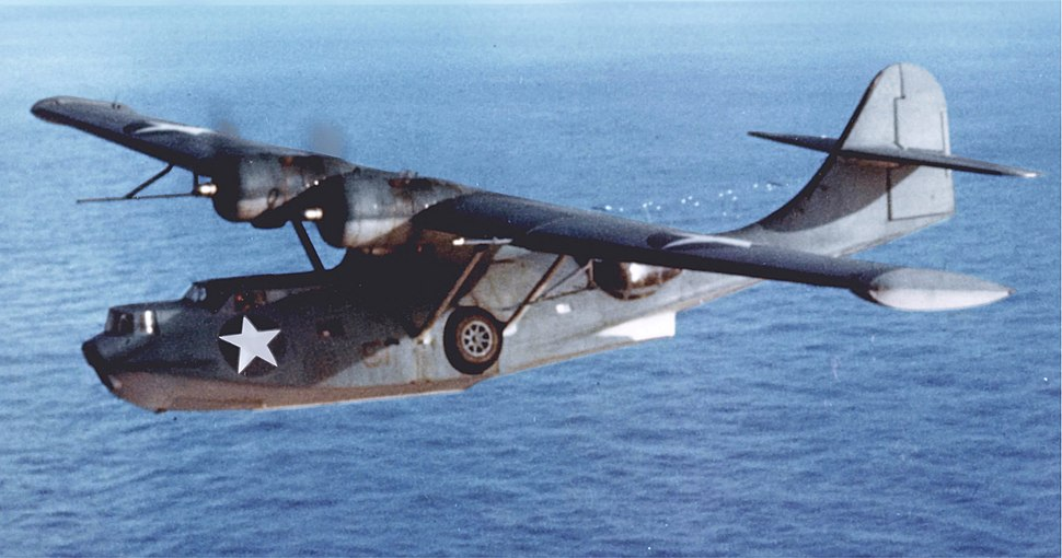 Consolidated PBY-5A Catalina in flight (cropped)