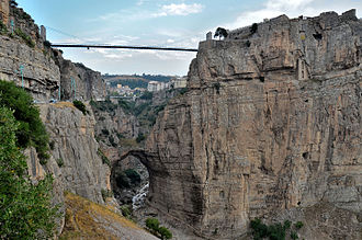 Sidi M'Cid Bridge - The natural bridge beneath the Sidi M'Cid