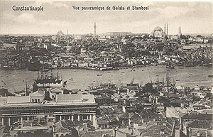 Names of Istanbul - A postcard, c. 1905, refers to the city as Constantinople, and the inner city as Stamboul.