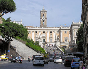 The Capitoline Hill cordonata (centre of pictu...