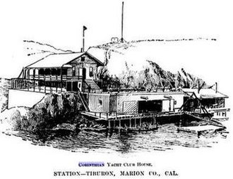 Tiburon, California - Corinthian Yacht Club House c 1894 Tiburon, California