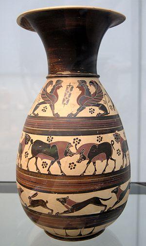 Orientalizing period - Corinthian orientalising jug, c. 620 BC, Antikensammlungen Munich