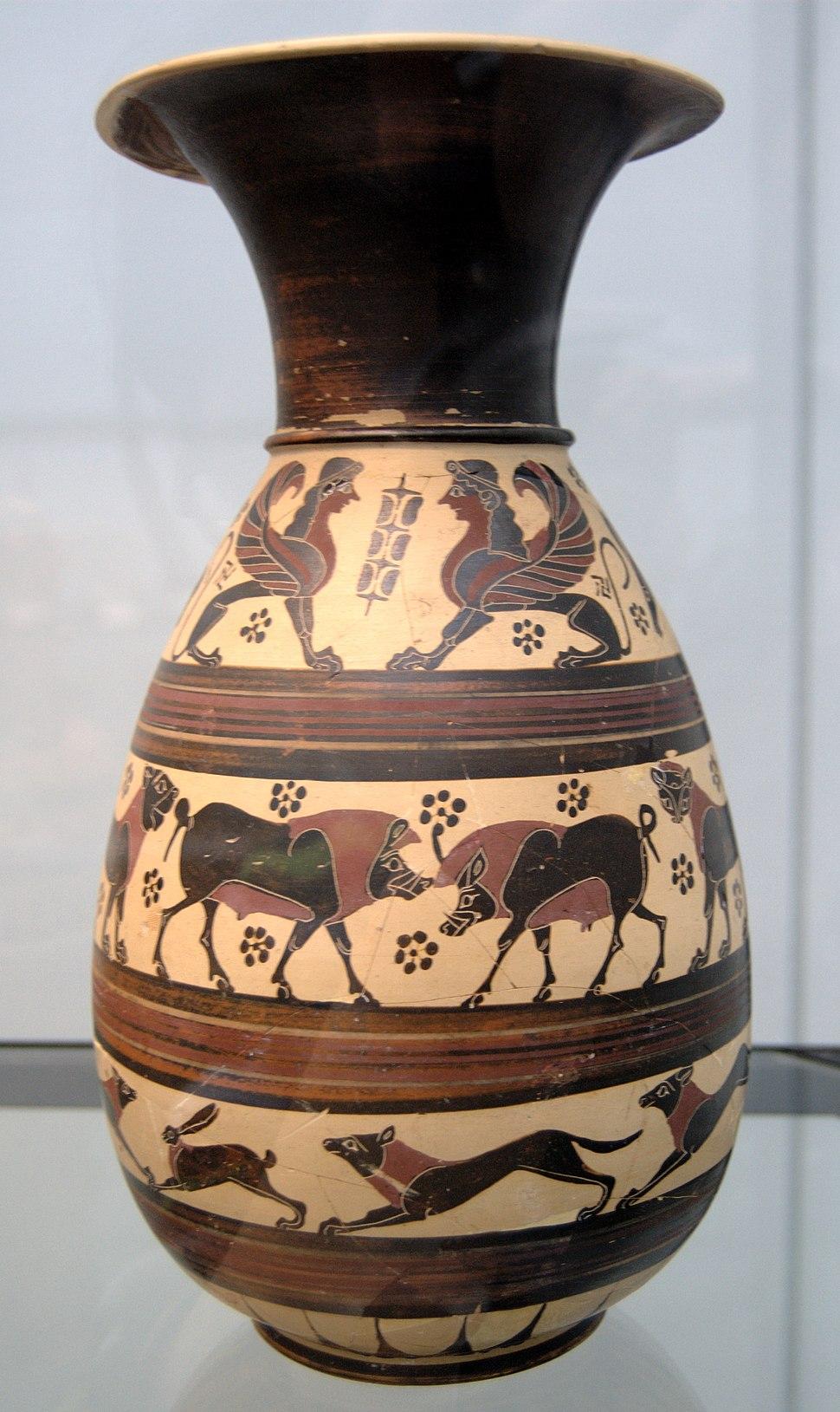Corinthian jug 620 BC Staatliche Antikensammlungen