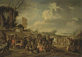 Cornelis de Wael -  A camp by the ruins