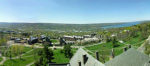 Cayuga Lake - Cornell West Campus and Cayuga Lake as seen from McGraw Tower.