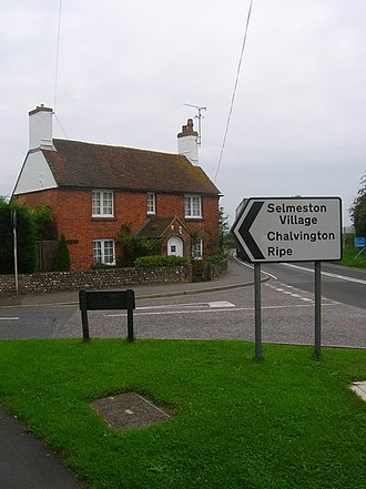 Selmeston - Image: Corner Cottage, Selmeston geograph.org.uk 942250