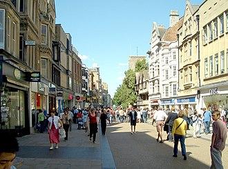 Cornmarket Street - Cornmarket Street in 2007.