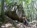 Corsica - Cascade des Anglais - Andrea with a huge rock - panoramio.jpg