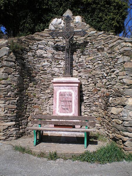 Courniou (Hérault) - croix de la mission de Marthomis (1856).