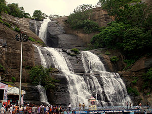 Courtallam Falls in Tamilnadu
