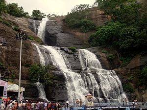 Courtallam Falls in Tamilnadu