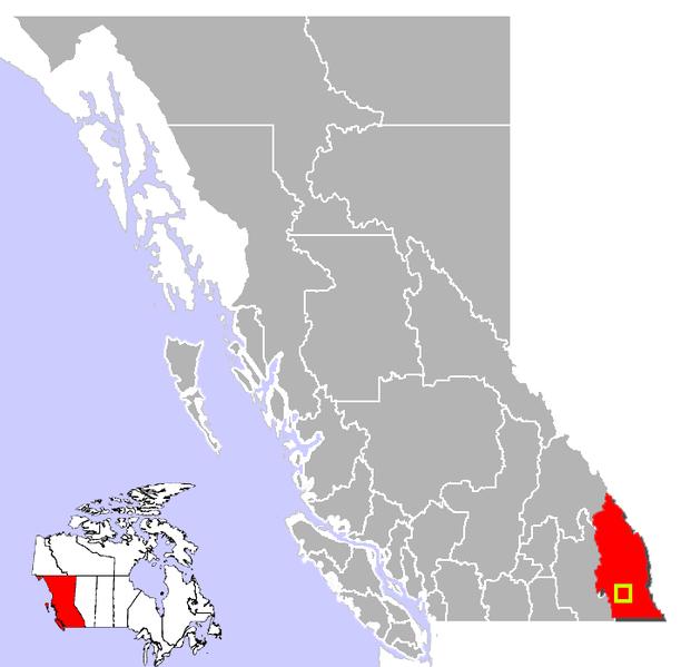 File:Cranbrook, British Columbia Location.png