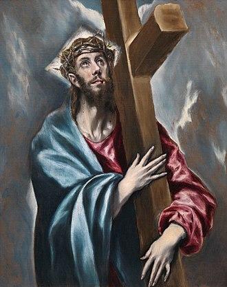 Museum of El Greco - Image: Cristo abrazado a la cruz (El Greco, Museo del Prado)