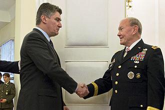 Zoran Milanović - Milanović and U.S. Army Gen. Martin Dempsey meet in Zagreb, 2014