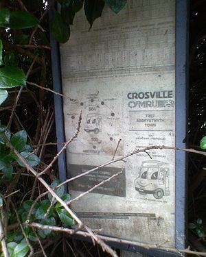 Crosville Motor Services - Crosville bus stop poster at Porters Lodge, Aberystwyth