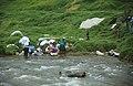 Cuenca Ecuador Laundry in the River 1994.jpg