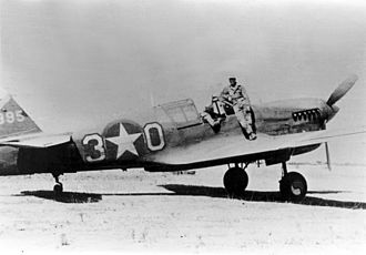 33d Operations Group - Curtiss P-40L of 99th Fighter Squadron in North Africa 1943