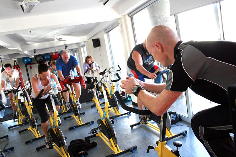 File:Cycle Class at a Gym.JPG