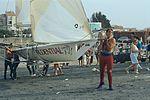 Dériveurs 18 pieds australiens au Salon Nautique International à Flot de La Rochelle 1987 (13).jpg