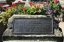 Grabinschrift des Dürer-Grabes in Nürnberg (Quelle: Wikimedia)