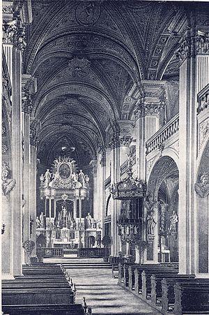 Johann Hugo von Wilderer - St. Andreas, Düsseldorf, interior, 19th century