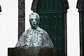 D. João Paulino de Azevedo e Castro, 19.º bispo de Macau, busto frente à Igreja da Santíssima Trindade, concelho das Lajes do Pico, ilha do Pico, Açores, Portugal.JPG