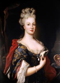 D. Maria Ana de Áustria, Rainha de Portugal - Pompeo Batoni (Palácio Nacional da Ajuda).png