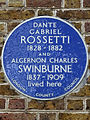 DANTE GABRIEL ROSSETTI 1828-1882 AND ALGERNON CHARLES SWINBURNE 1837-1909 lived here.jpg