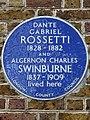 DANTE GABRIEL ROSSETTI 1828-1882 AND ALGERNON CHARLES SWINBURNE 1837-1909 lived here.jpg