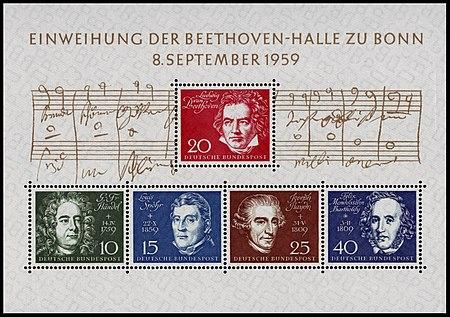 Briefmarken Jahrgang 1959 Der Deutschen Bundespost Wikipedia