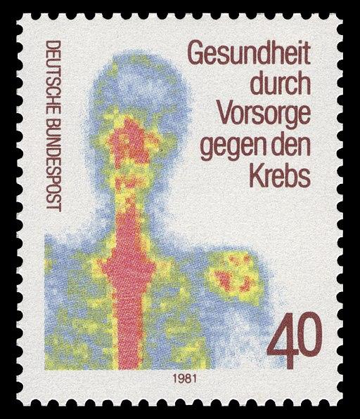 Briefmarke zum Thema Krebsvorsorge 1981