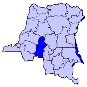 Localisation du district du Kasaï
