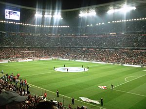 Munich derby - DFB-Pokal Quarter-Final 2008 Bayern against 1860 in Allianz Arena.
