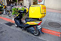 DHL Kymco Scooter Parked at Section 5, Minsheng East Road, Taipei 20141230.jpg