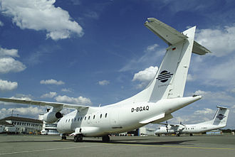 Fairchild Dornier 328JET - A 328JET of Cirrus Airlines, with a DHC-8 in the background