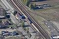 Dabas, vasútállomás a levegőből.jpg