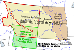 Location of Dakota Territory