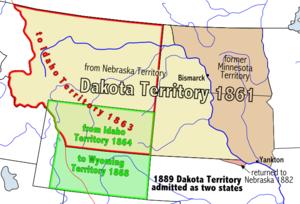 Location of Dakota Territory