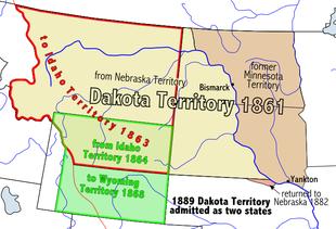 Territorio del dakota wikipedia for Noleggio di yankton south dakota