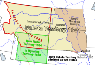 territory of the USA between 1861-1889