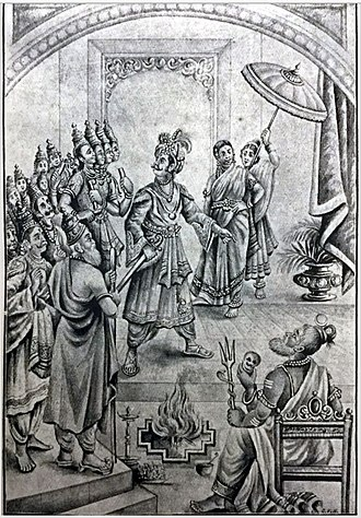 Daksha - Daksha criticizing Rudra for insulting him in the Satrayaga