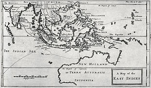 Engraved map of the East Indies